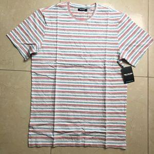 Pink dolphin stripe shirt size large